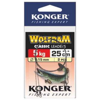Konger Wolframové lanko 2ks 20cm/5kg