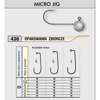 Kamatsu – Jigová hlavička MICRO 1,5g/vel.4