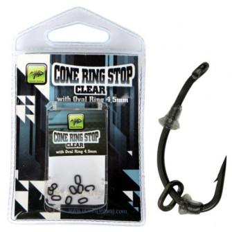 Giants fishing Slídová zarážka s kroužkem Cone Ring Stop Clear with Oval Ring 4,5mm