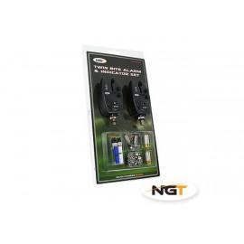 NGT - 2x Hlásič Bite Alarm VX2 + 2x Řetízkový Swinger + 2x baterky ZDARMA!