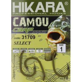 HIKARA - Háčky Camou Carp SELECT 31709 vel. 1 10ks