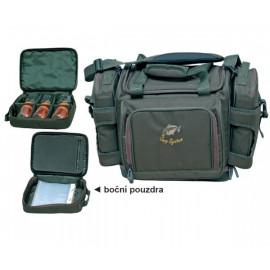 Kaprařská taška CARP SYSTEM LUX + penál na návazce + zásobník na dipy