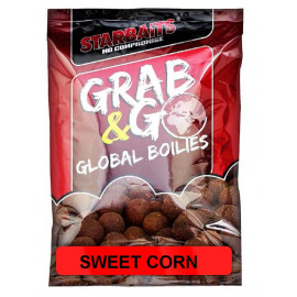 Starbaits Boilie Grab & Go Global Boilies 1kg 20mm - SWEET CORN