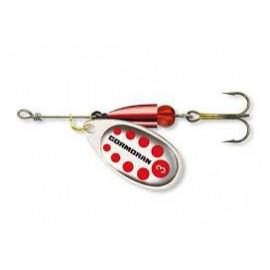 CORMORAN - Třpytka BULLET longcast stříbrná/červené tečky s trojháčkem vel. 3 7g