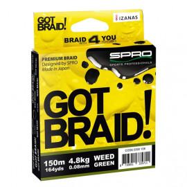 Pletenka SPRO Got Braid! (zelená) - 0.22mm / 150m / 15,5kg