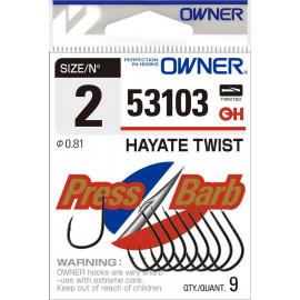 Háček OWNER HAYATE TWIST 53103 Vel. 1 - bal. 8ks.