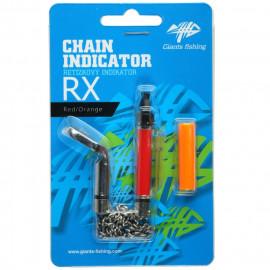 GIANTS FISHING Řetízkový Swinger Chain Indicator RX - Červený/Oranžový