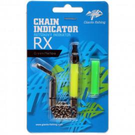 GIANTS FISHING Řetízkový Swinger Chain Indicator RX - Zelený/Žlutý