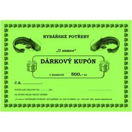 DÁRKOVÝ KUPÓN 2000 - TIŠTĚNÝ