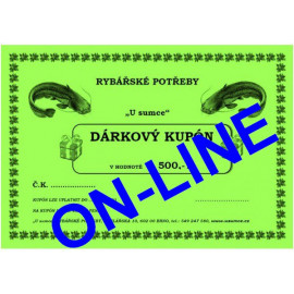 DÁRKOVÝ KUPÓN 500 - ONLINE