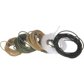 TB Anti-tangle gumová hadička pr. 2,0mm / 3m - barva transparentní