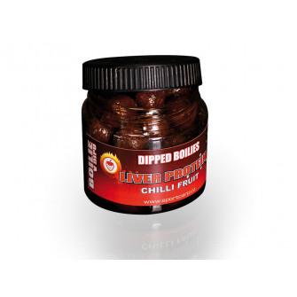 Sportcarp dipovaný boilies Dipped Boilies Liver Protein Chilli Fruit 18 mm|VGE3000101