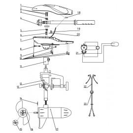 Lodní elektromotor Rhino VX - náhradní díl kabelový klip