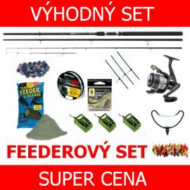 FEEDER SET - Naviják + Prut + Silon + Hrazda + Krmení + Bižuterie