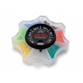 Zarážky na splávky - Mix barevných velikostí silikonové  - 6630016