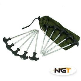 NGT sada zavrtávacích kolíků na bivak 10 ks--