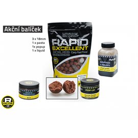 Akční balíček boilie a doplňků Rapid - Kapří guláš