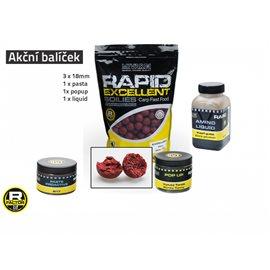 Akční balíček boilie a doplňků Rapid - Cherry
