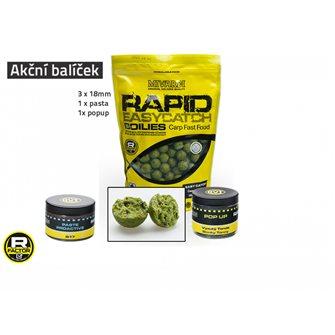 Akční balíček boilie a doplňků Rapid - Česnek+Chilli