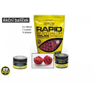 Akční balíček boilie a doplňků Rapid - Anglická Jahoda
