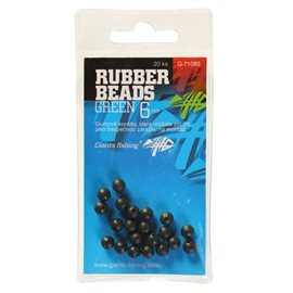 Gumové kuličky Rubber Beads Transparent Green 5mm,20ks