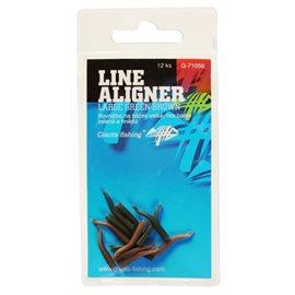 Rovnátka na háček Line Aligner-Large Green-Brown/12pc